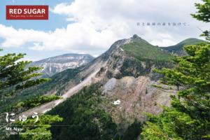 にゅう登山道から見る天狗岳